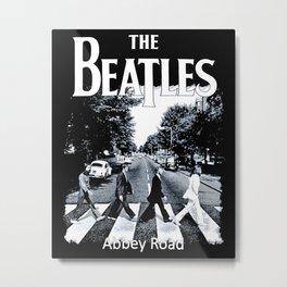Abbey Road Walking Metal Print