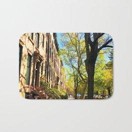 Cobble Hill Brooklyn New York in the Fall, Brownstones Bath Mat