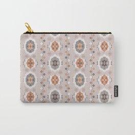 Boho Baby // Middle Eastern Metallic // Nana's Turkish Kilim Carpet in Copper & Gunmetal Gray Carry-All Pouch