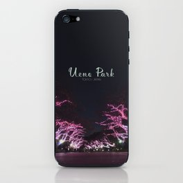 Night view in Ueno Park iPhone Skin