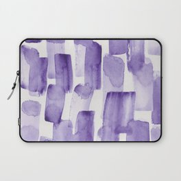 Purple Watercolour Patterns | 190129 Abstract Art Watercolour Laptop Sleeve