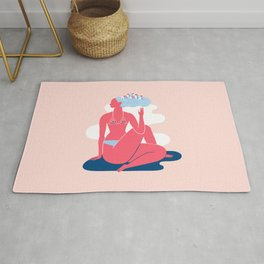 Yoga Girls 3 Lady of the Fishes Pose Rug