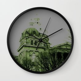 Guilded in Green (Des Moines, Iowa Capital) Wall Clock