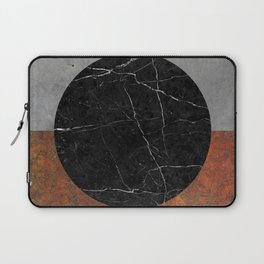 Abstract - Marble, Concrete, Rusted Iron Laptop Sleeve