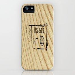 Lumber Stamp iPhone Case