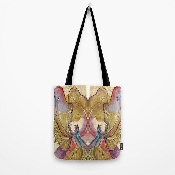 Flower Fairy Leaf Tote Bag