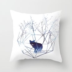 Organic prison Throw Pillow