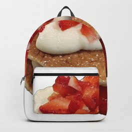 pancakes_strawberries_and_whip_cream Backpack