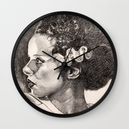 The bride of frankenstein elsa lancaster Wall Clock