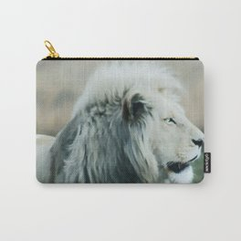 White lion Carry-All Pouch