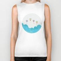 hot air balloon Biker Tanks featuring hot air balloon.. LOVE...  by studiomarshallarts