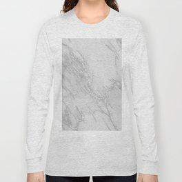 Marble Love Silver Metallic Long Sleeve T-shirt