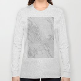 Marble Love Silver Metallic Long Sleeve T-shirt