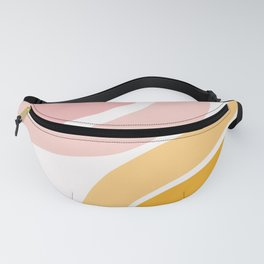 Abstract Shapes 36 in Mustard Yellow and Pale Pink Fanny Pack