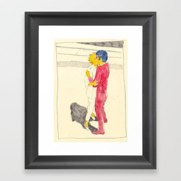 Lisa/kei/milhouse/kaneda - Bartkira Framed Art Print