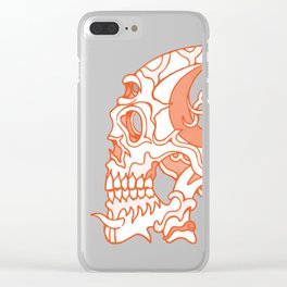 Orange death mask Clear iPhone Case
