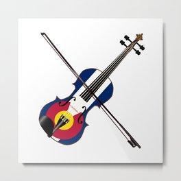 Colorado Fiddle Metal Print