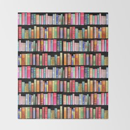 Vintage Book Library for Bibliophile Throw Blanket