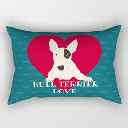 Bull Terrier Love Rectangular Pillow