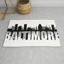 Baltimore Silhouette Skyline Rug