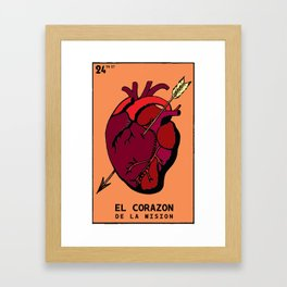 The heart of the Mission Framed Art Print