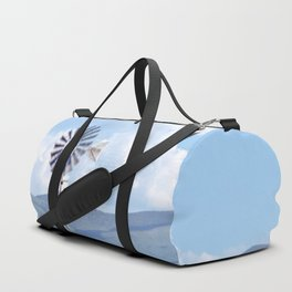 """Blue Windmill Blue Sky"" by Murray Bolesta Duffle Bag"