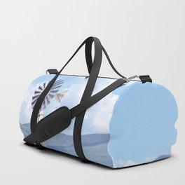 """Blue Windmill Blue Sky"" by Murray Bolesta Duffle Bag"