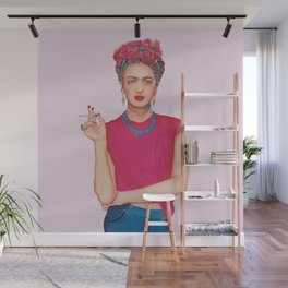 Woman with Floral Bouquet Wall Mural
