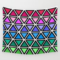 triangle Wall Tapestries featuring Triangle by Laura Maria Designs