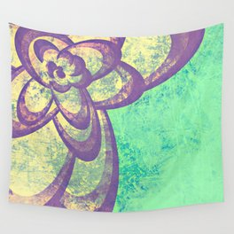 Purple & Green Flower Wall Tapestry