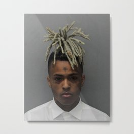 Rapper XXXTentacion Metal Print