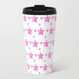 Fushcia Stars Travel Mug