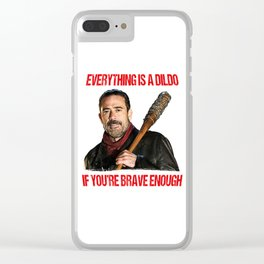 Motivational Negan Clear iPhone Case