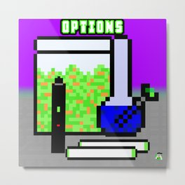 Pot Options Metal Print