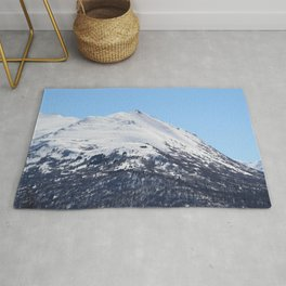 Blue Sky and Snowy Mountain Top Rug