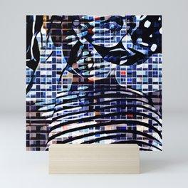 In House Blue Mini Art Print