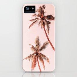 Sunset palms iPhone Case