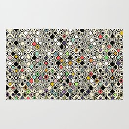 cellular ombre Rug