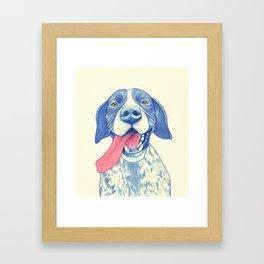 Pointer dog - Jola 01 Framed Art Print