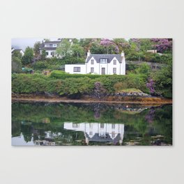 White Reflection Canvas Print