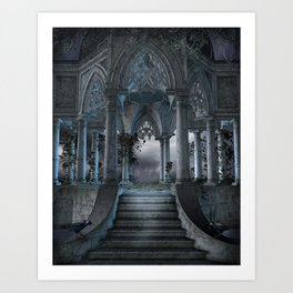 Gothic Mausoleum Art Print