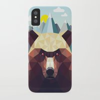 mountain iPhone & iPod Cases featuring Bear Mountain  by Davies Babies