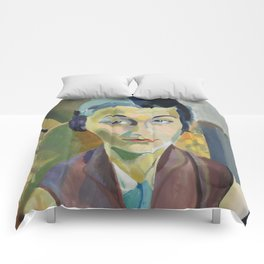 """Robert Delaunay """"Portrait of Maria Lani"""" Comforters"""