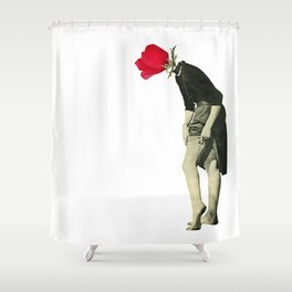 Hello Flower Shower Curtain