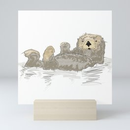 Sea Otter Mini Art Print