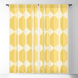 Hexagonal Pattern - Golden Spell Blackout Curtain