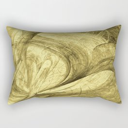 Flying threads of gold Rectangular Pillow