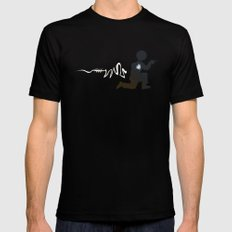 Doing the Moonwalk Backwards But Running. Black MEDIUM Mens Fitted Tee