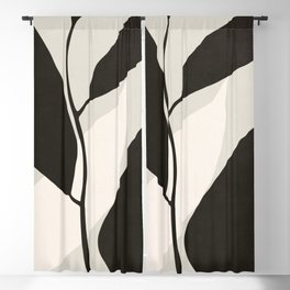 ABSTRACT ART - TROPICAL LEAVES 02 Blackout Curtain