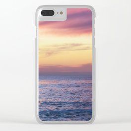Pink Sunset over Carmel Beach Clear iPhone Case